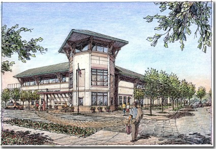 Concept Art For The Fairfield Cordelia Library Building.