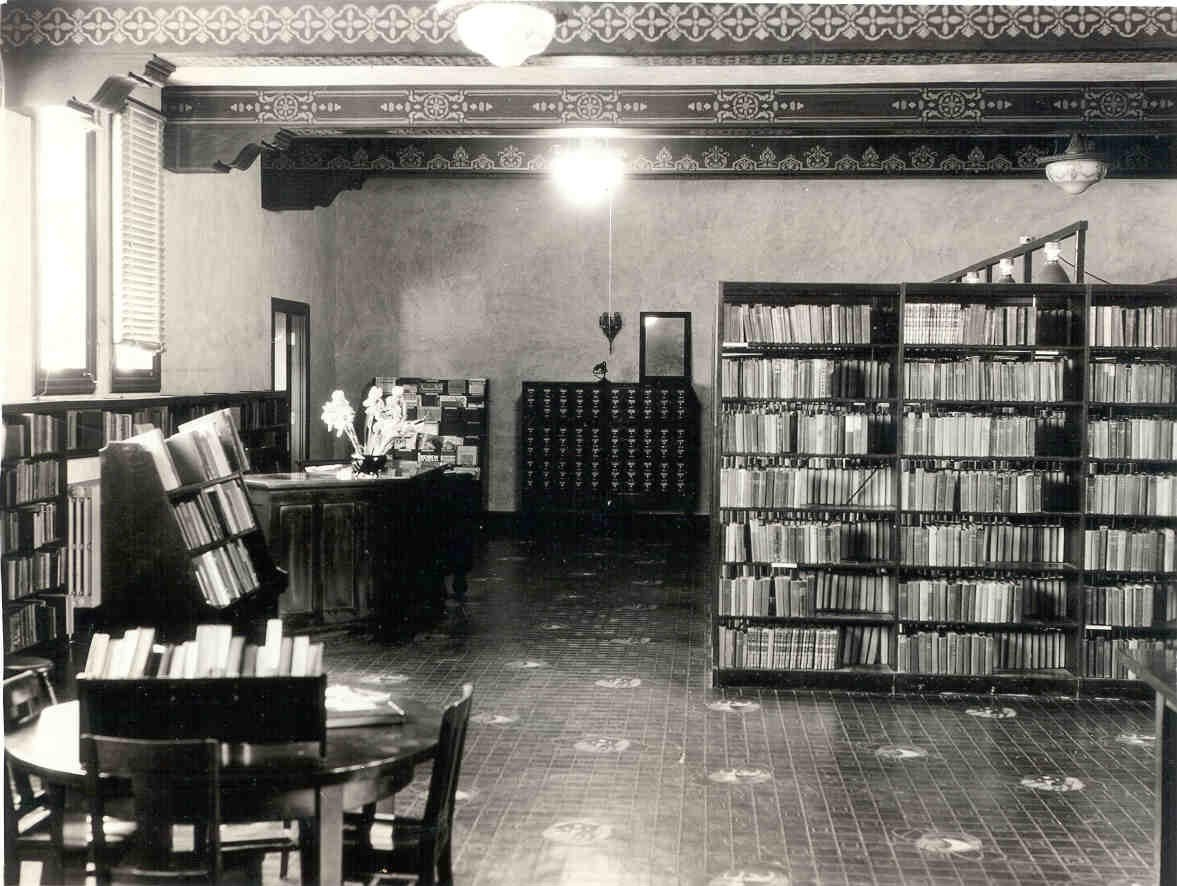 Photograph Of The Original Solano County Library Building Interior.