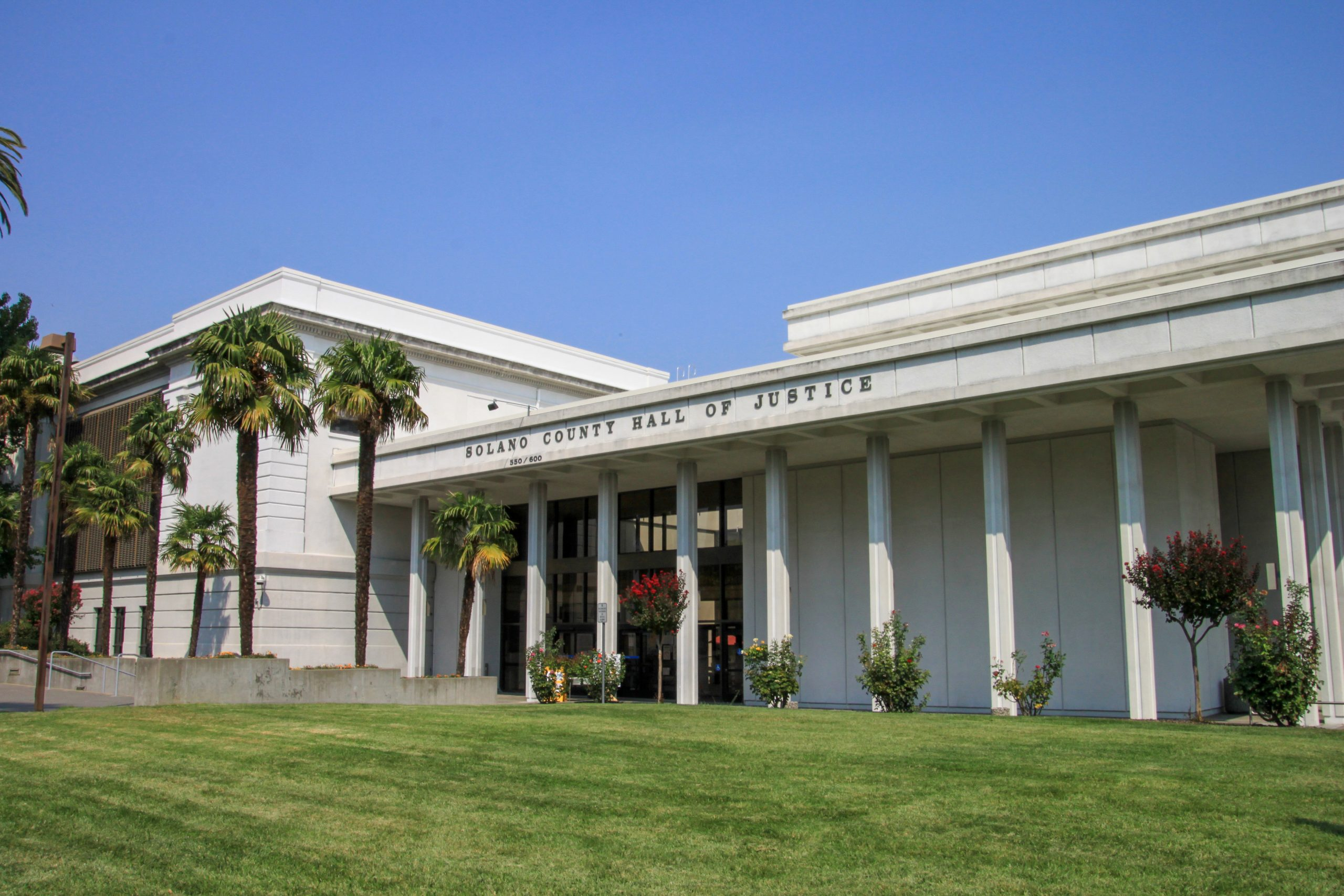Exterior Of The Solano County Law Library, Located Within The Solano County Hall Of Justice.
