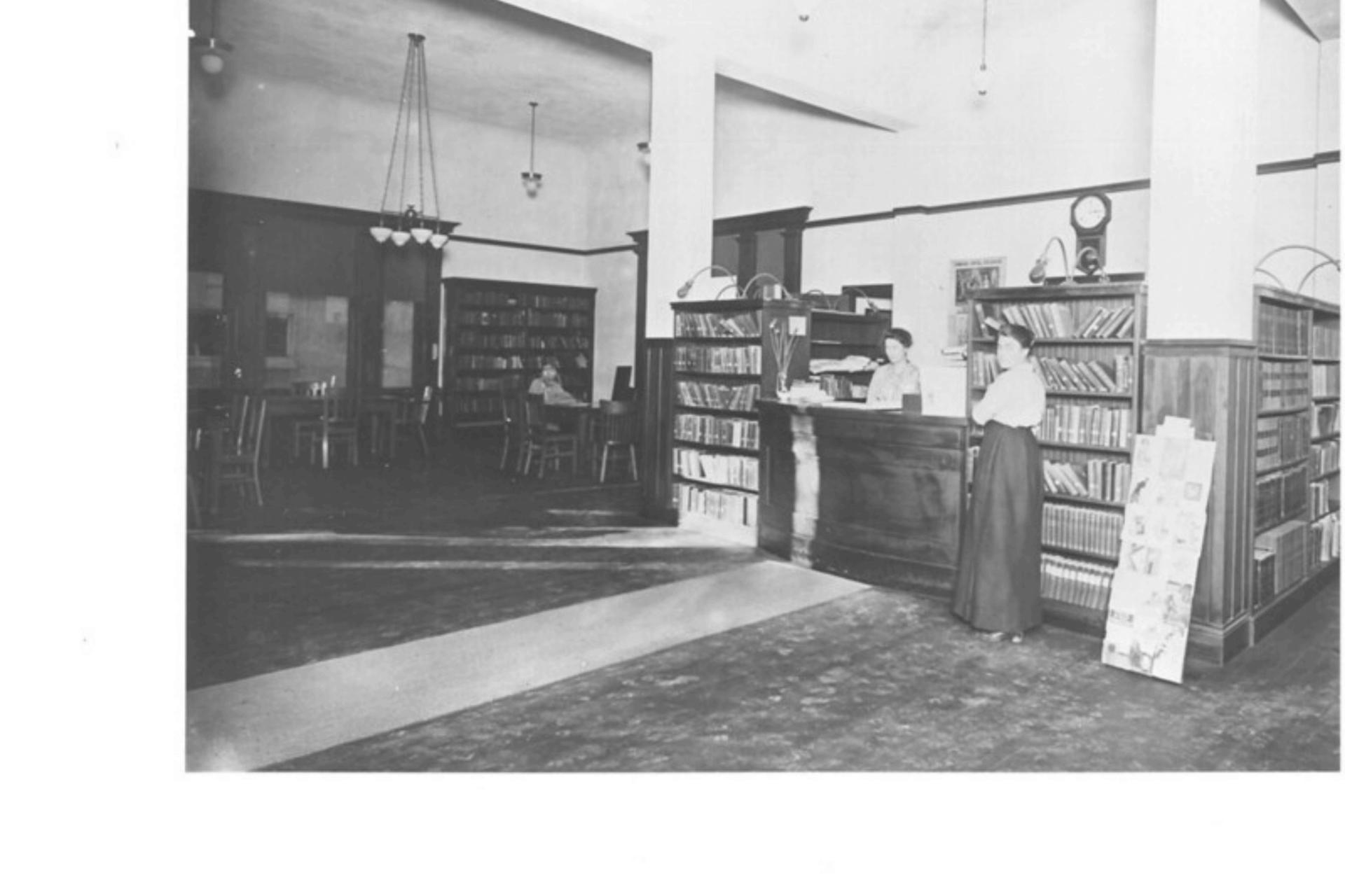 1915 Dixon Carnegie Library Interior