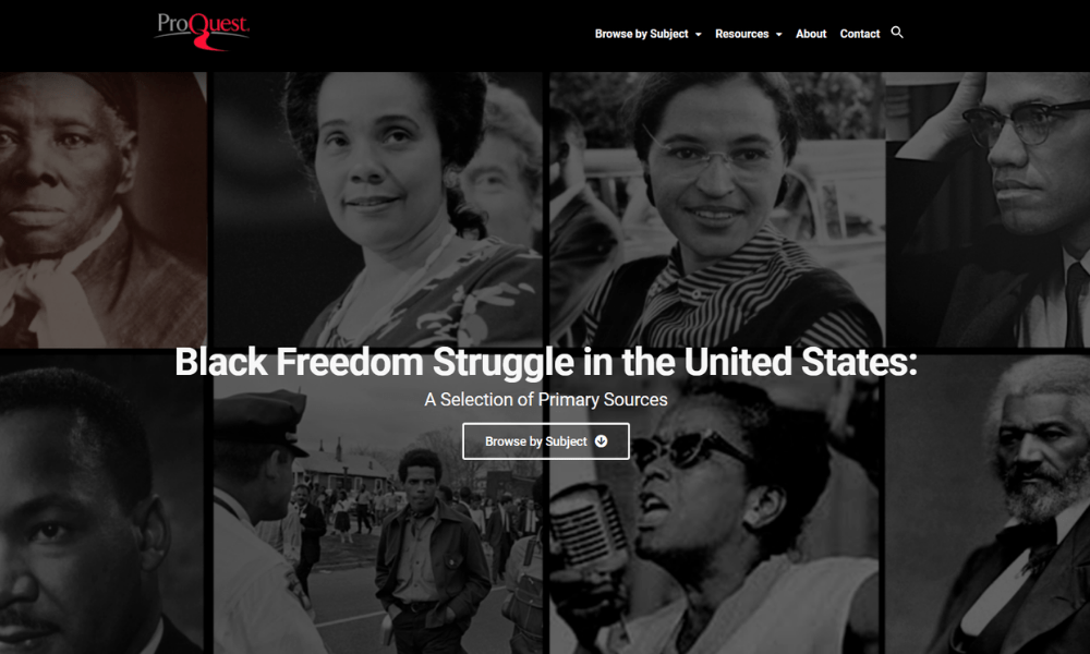 ProQuest: Black Freedom New Resource