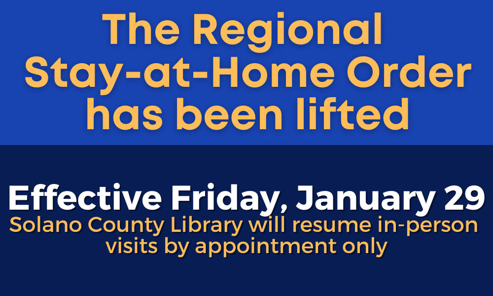 The Regional Stay-at-home Order Has Been Lifted. Effective Friday, January 29 We Will Resume In-person Visits By Appointment Only.