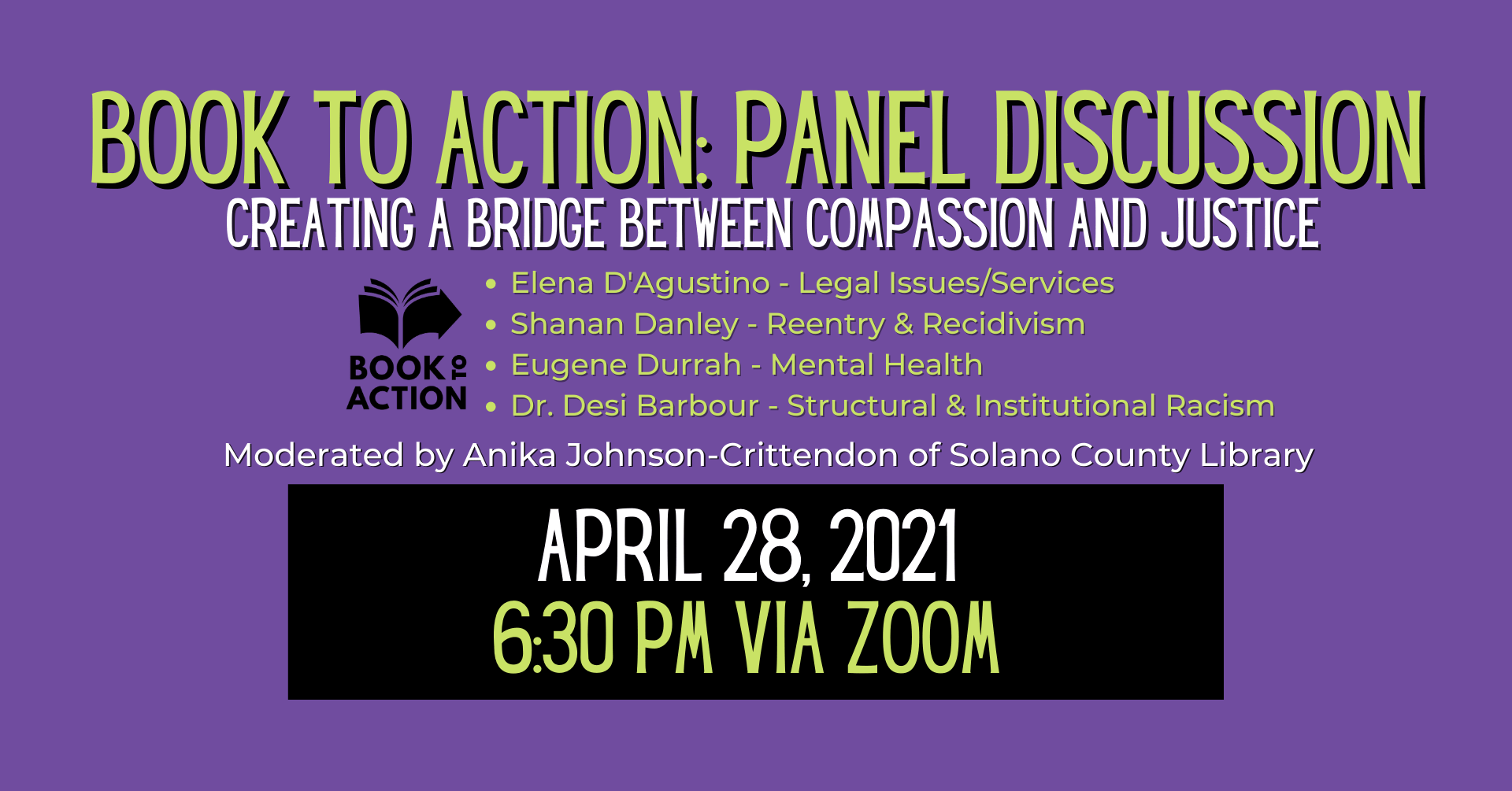 Book To Action: Panel Discussion on 4.28.2021