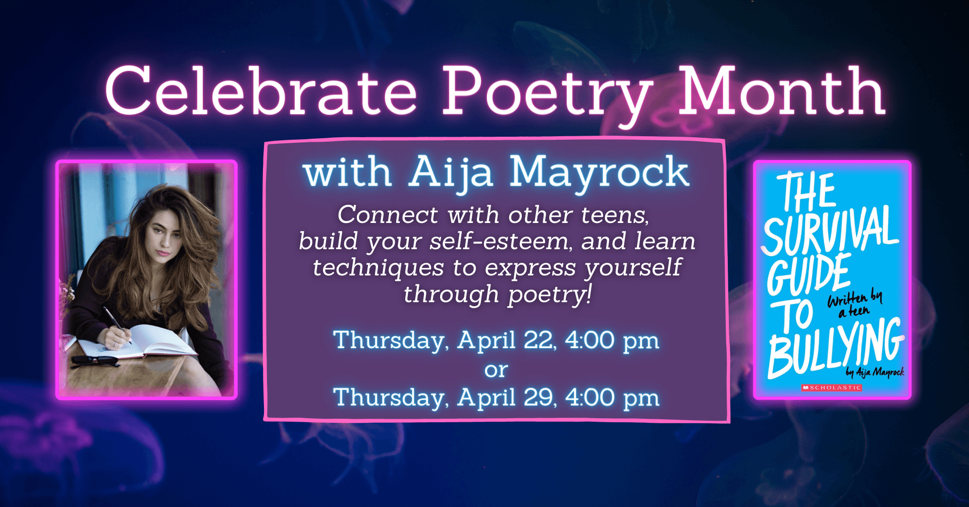 Celebrate Poetry Month With Aija Mayrock