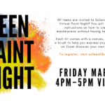 Teen Paint Night! Friday, March 26 At 4 Pm