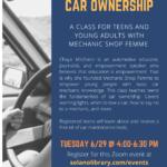 Be Prepared For Car Ownership Teen Survival Kit Program