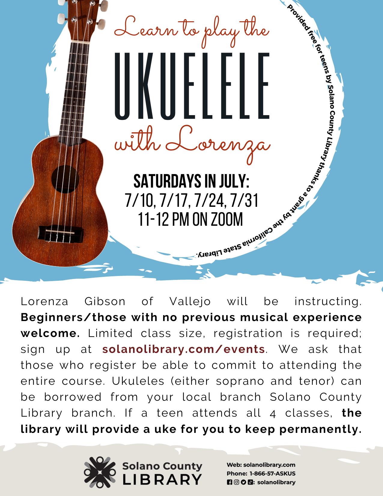 Learn To Play Ukulele With Lorenza Program