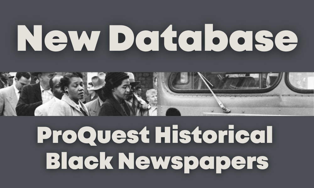 ProQuest Historical Black Newspapers Is Solano County Library's Newest Database.
